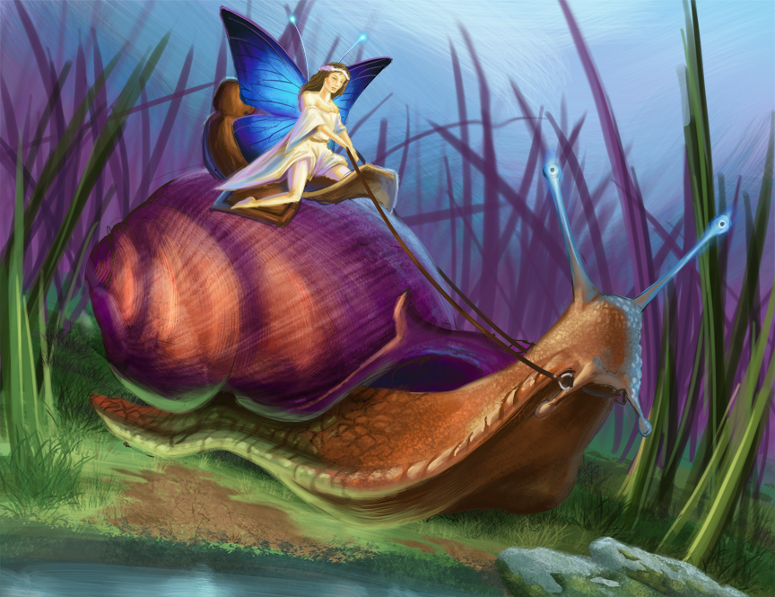 snail-with-fairy-rider